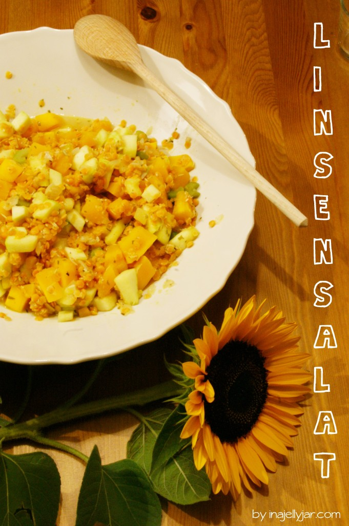 Linsensalat mit Kürbis & Zucchini