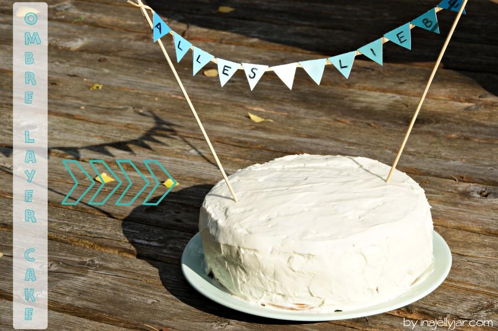 Türkiser Ombre Cake