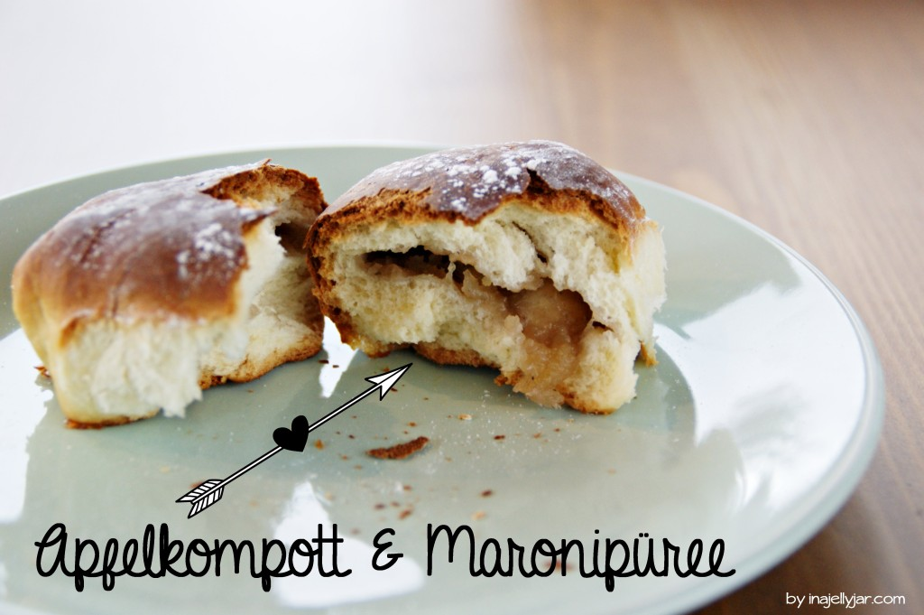 Buchteln mit Apfel & Maronimus