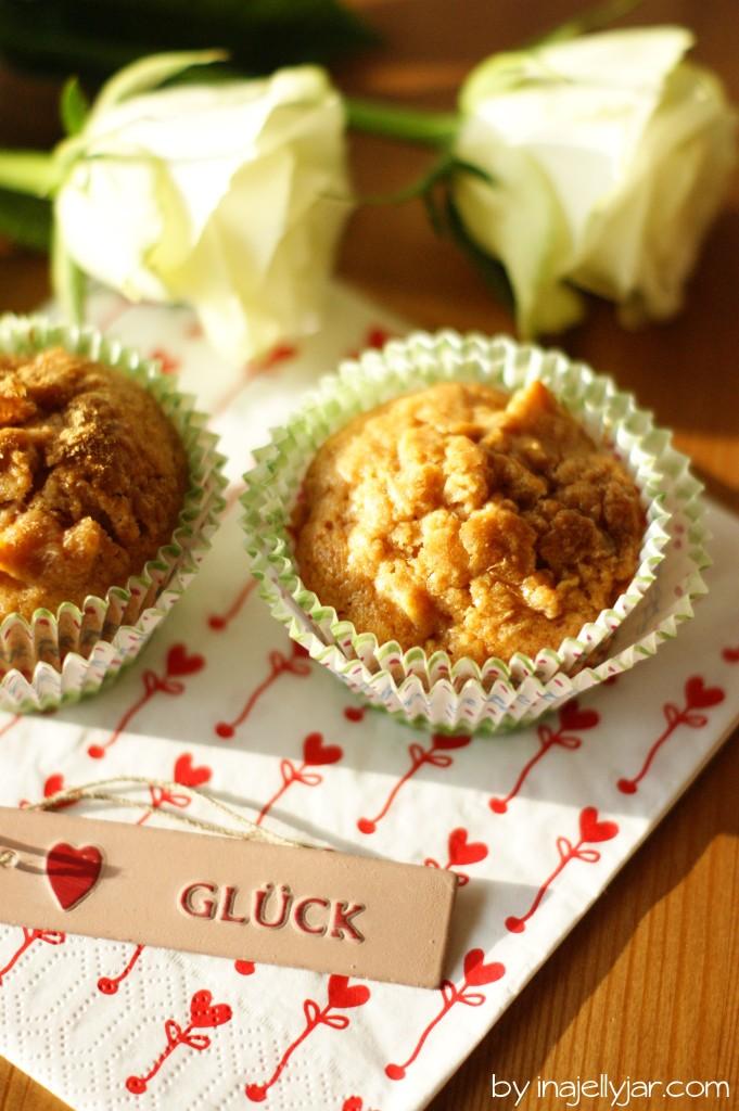 Honigmuffins mit karamellisierten Äpfeln