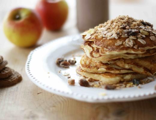 Fluffige Apfel-Spekulatius-Pancakes