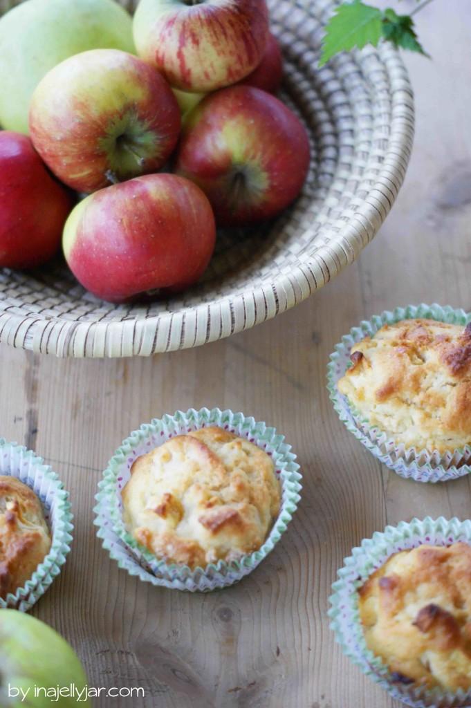 Einfache apfel muffins