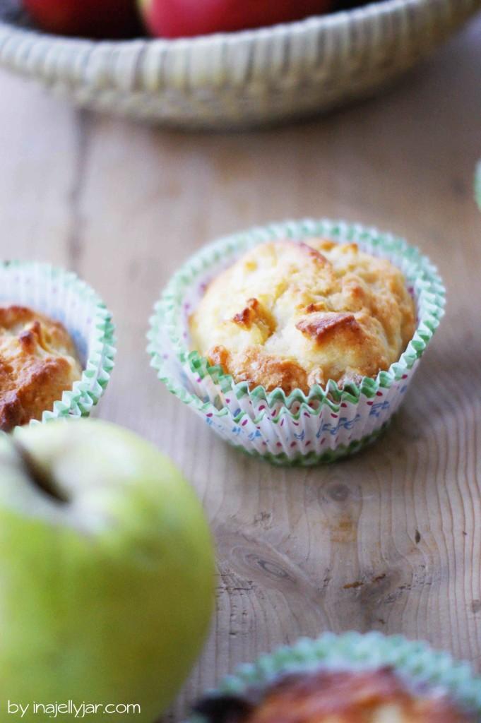 Einfache Apfelmuffins