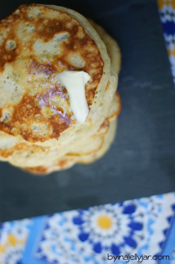 Bananen-Nuss Pancakes mit Pekannüssen