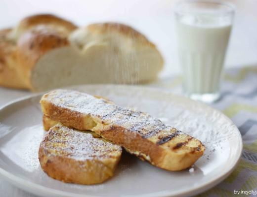 French Toast aus Brioche mit Zitrone