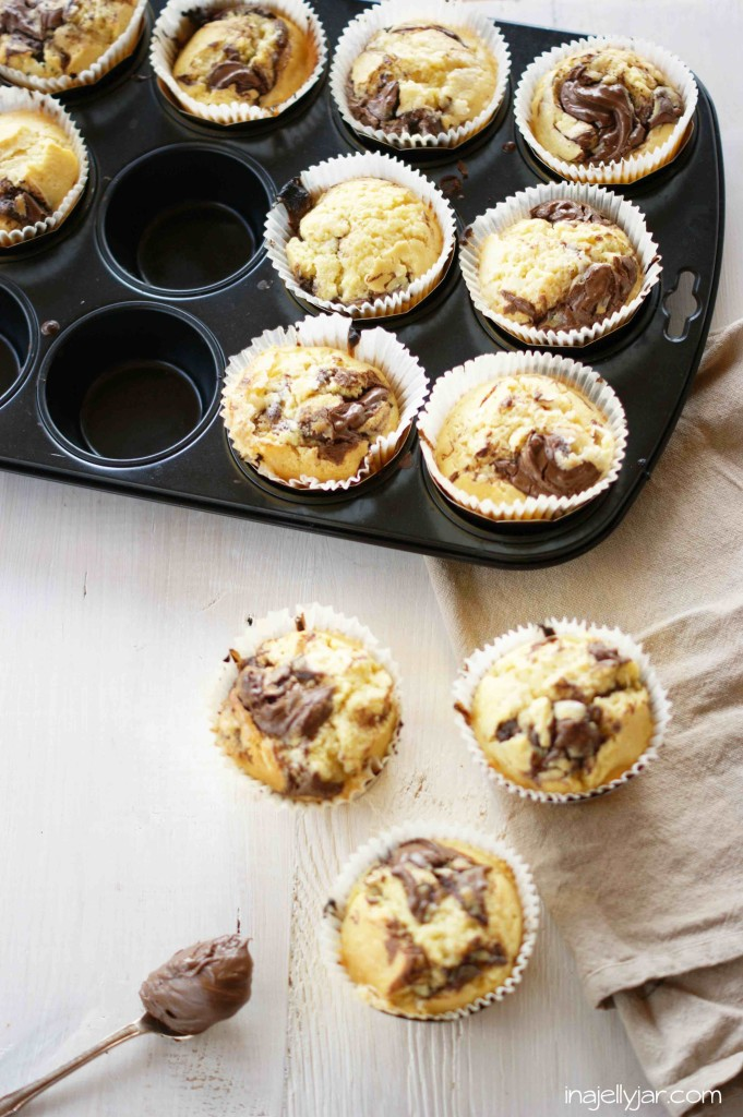 Nutella-Cheesecake-Muffins