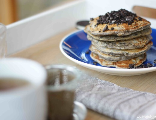 einfache, superfluffige Pancakes mit Oreo-Kekse