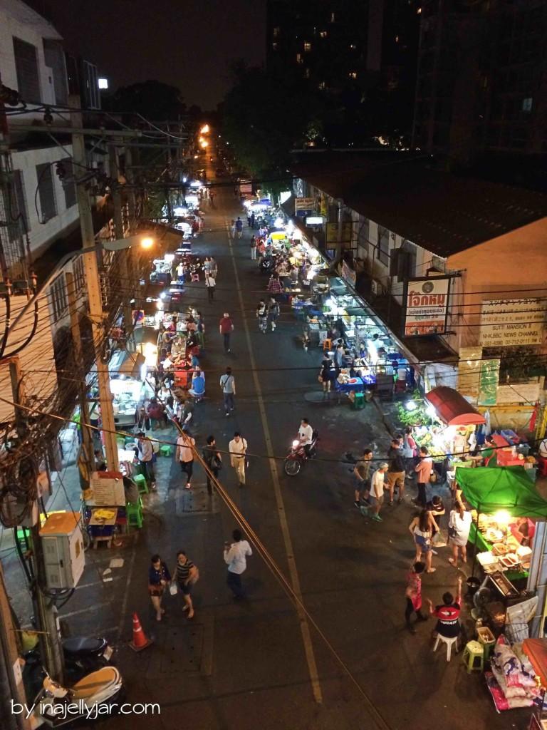 Soi 38 Foodstreet in Bangkok von oben