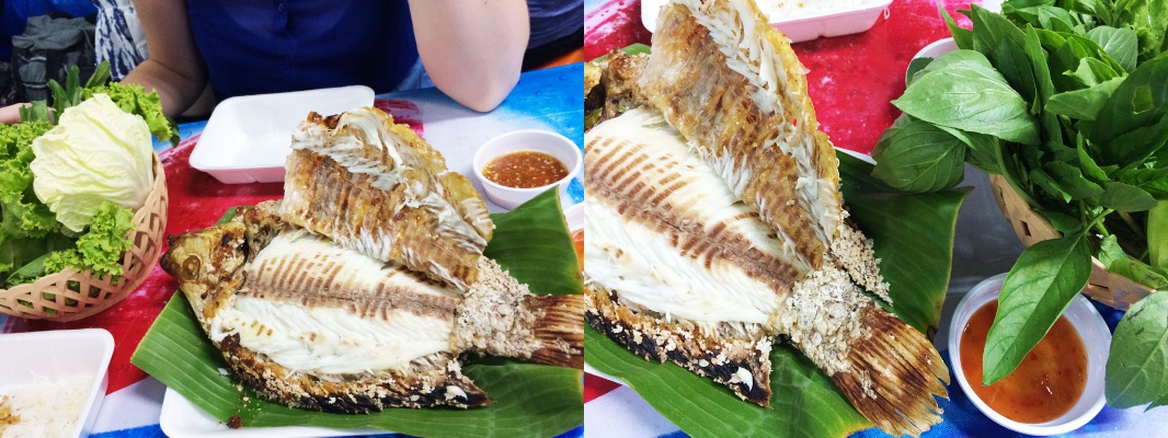 Streetfood in Bangkok Soi 38: Fisch