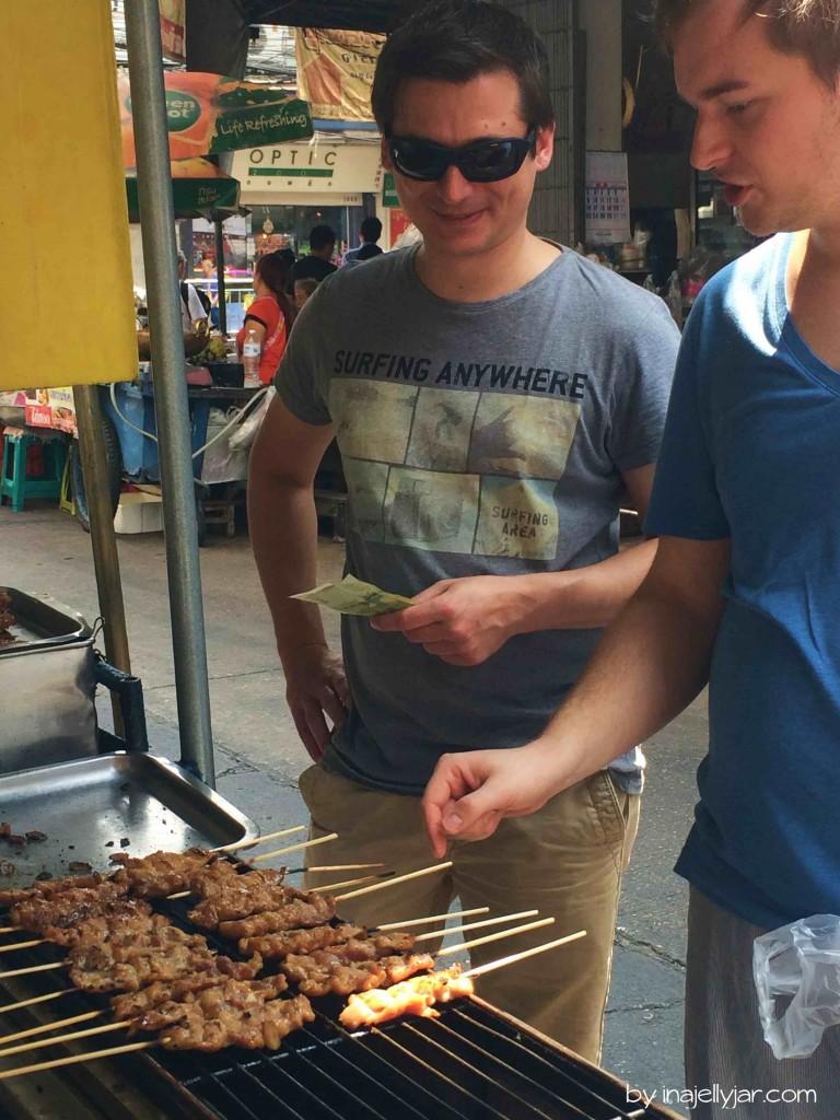 Spießchen - Foodstreet in Bangkok, Thailand
