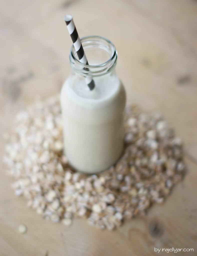 Selbstgemachte Urkornmilch aus Emmer, Dinkel und Einkorn-Flocken