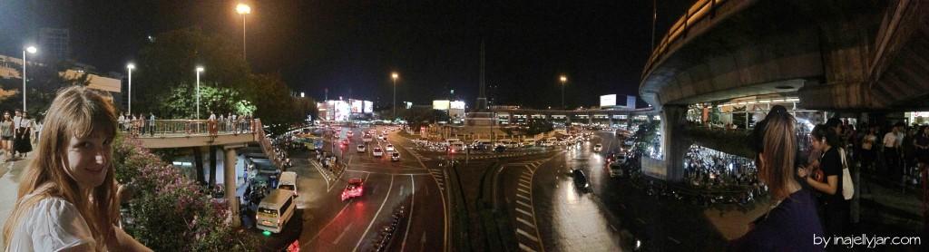 Überblick über die Foodstreets rund um Victory Monument in Bangkok