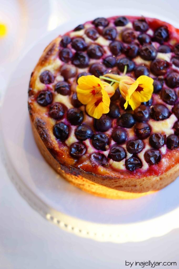 Winzertorte mit Topfen, Weintrauben und Grieß