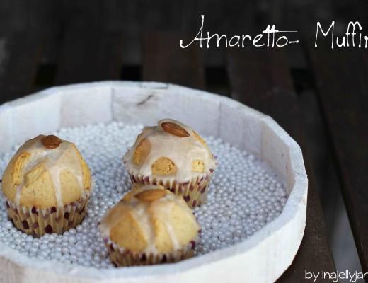 Glasierte Amaretto-Muffins