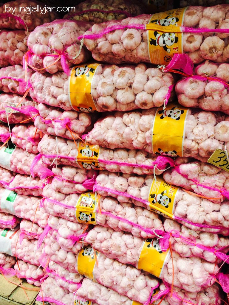 Knoblauch in Chinatown, Bangkok, Thailand