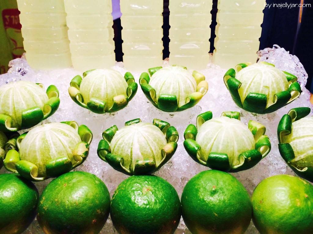 Frisch gepresster Limettensaft in Chinatown, Bangkok