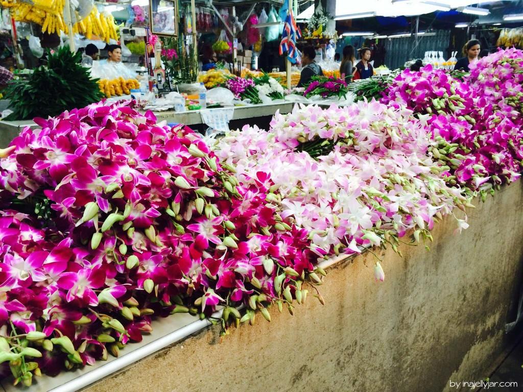 Üppige Orchideen-Blüten: Farbenpracht in Chinatown - Bangkok - Thailand
