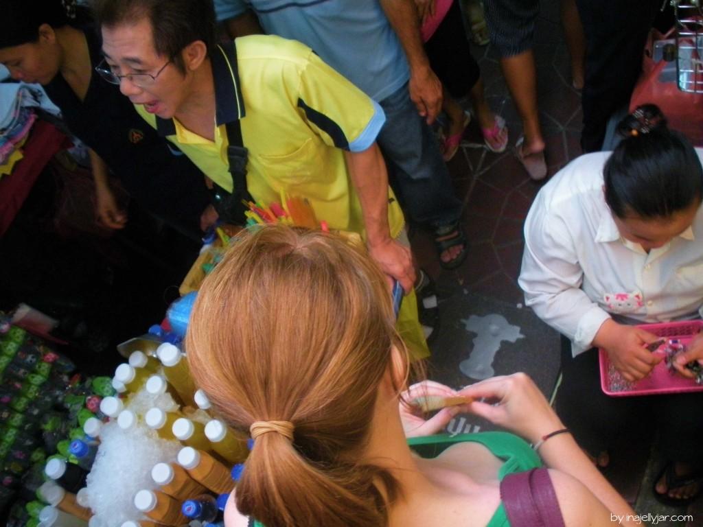 Sampeng Lane in Chinatown, Bangkok: ein Blick von oben