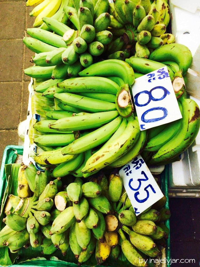 Chinatown in Bangkok: frische Bananen