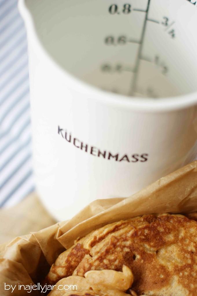Süßkartoffel-Pancakes mit Zimt, Muskatnuss und Ingwer