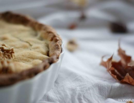 Californian Walnut Pie aus zartem Mürbteig mit Walnuss-Marmelade-Füllung