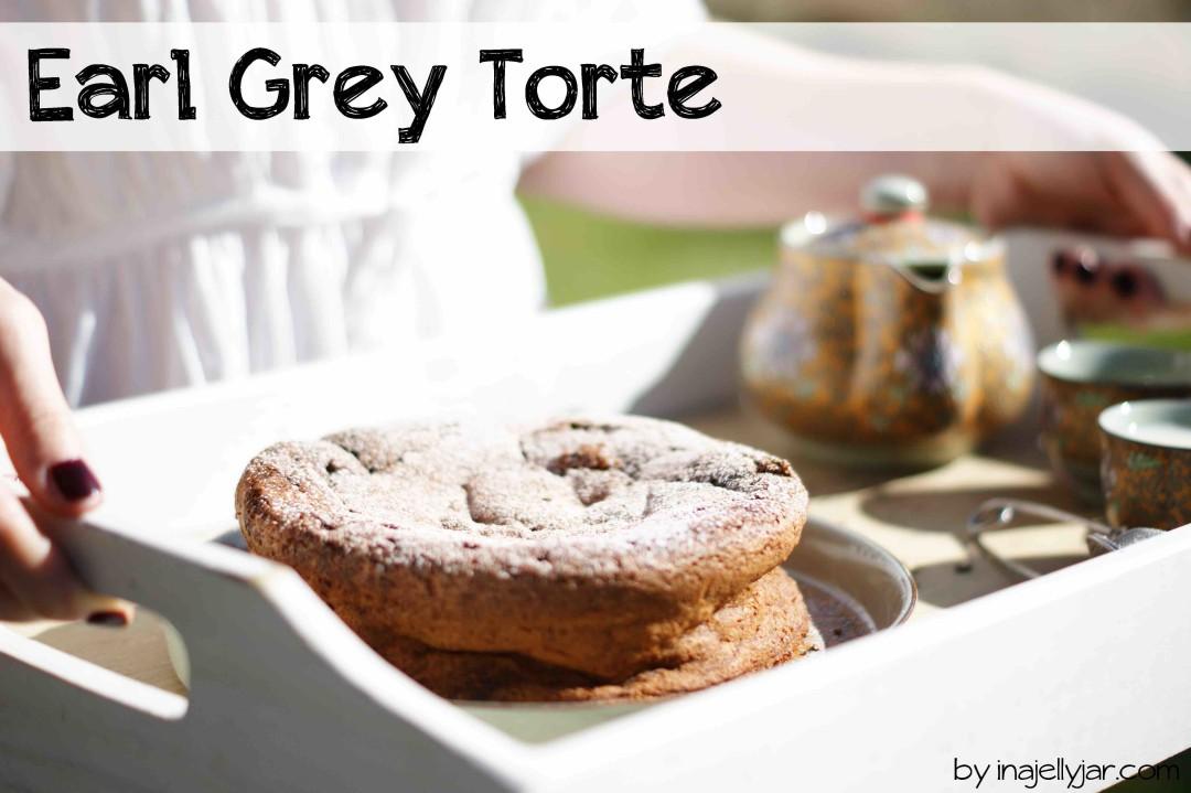 saftige Earl Grey Torte mit schwarzem Tee und Schokolade