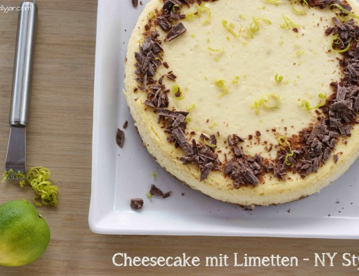 cremiger Limetten-Cheesecake mit Frischkäse und Keksboden