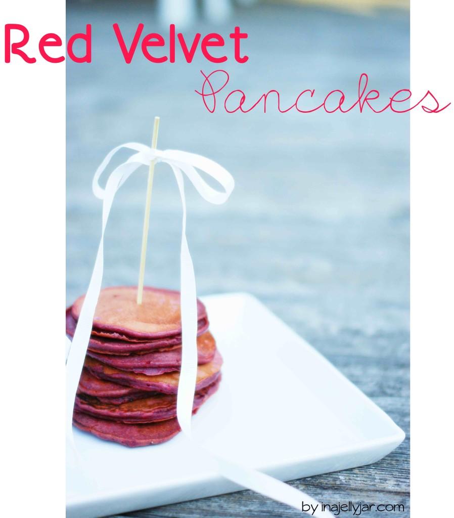 Red Velvet Pancakes mit Schoko-Ahornsirup - Pfannkuchen einmal anders mit Roter Beete und Kakao