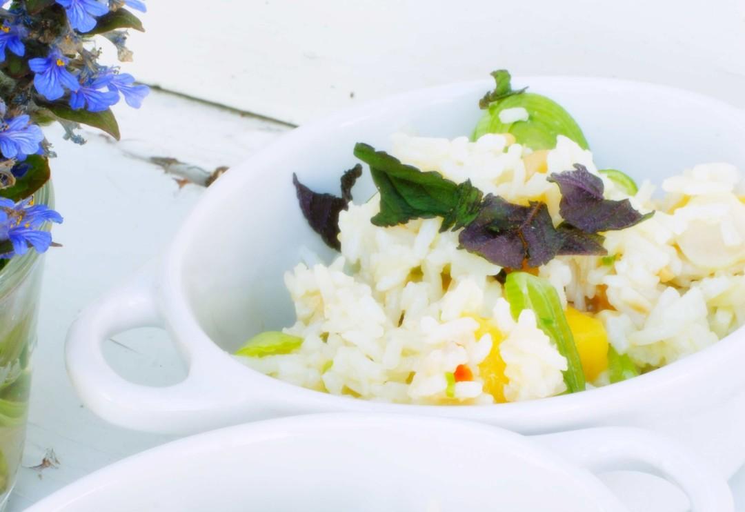 Schneller Reissalat mit Mango - das ideale Sommergericht