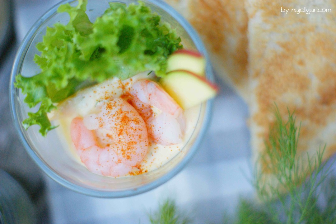 Shrimpscocktail mit Jogurt-Mango-Saunce