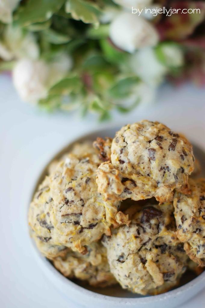 Zucchinicookies mit Schokolade und Gewürzen