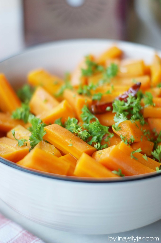 Orientalischer Karottensalat mit Gewürzen - ideal für die Mezze-Platte