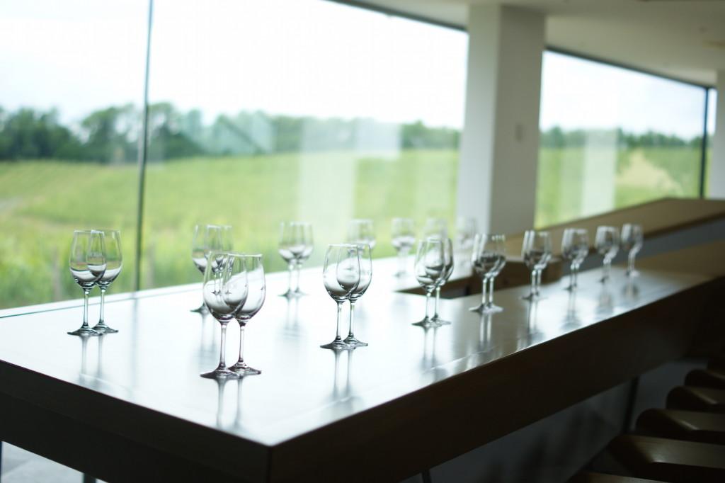 Modernes, puristisches Design im Weingut Marof, Slowenien