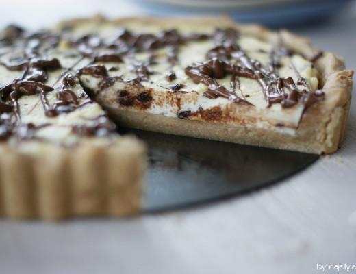Cremige Cannoli-Tarte mit Ricotta und Schokolade