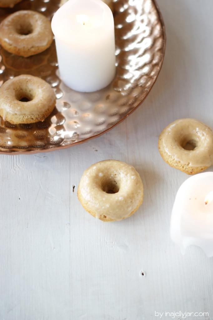 gebackene Chaidonuts mit Chai-Glasur obendrauf