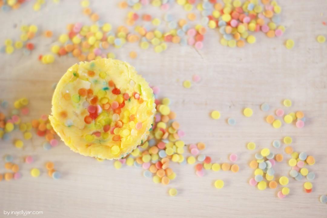 Konfetti Cheesecake für die Babyparty
