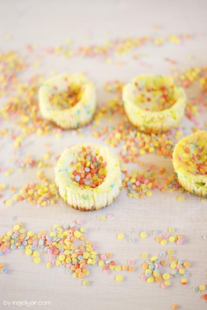 Mini-Cheesecake mit Funfetti
