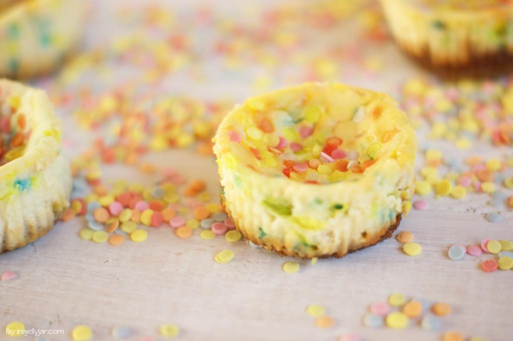 Mini Konfetti Cheesecakes