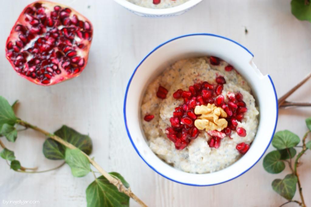 veganer gepoppter Amaranth Porridge
