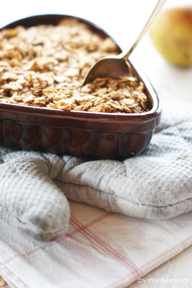 Bratapfel-Porrdige gebacken aus dem Backofen