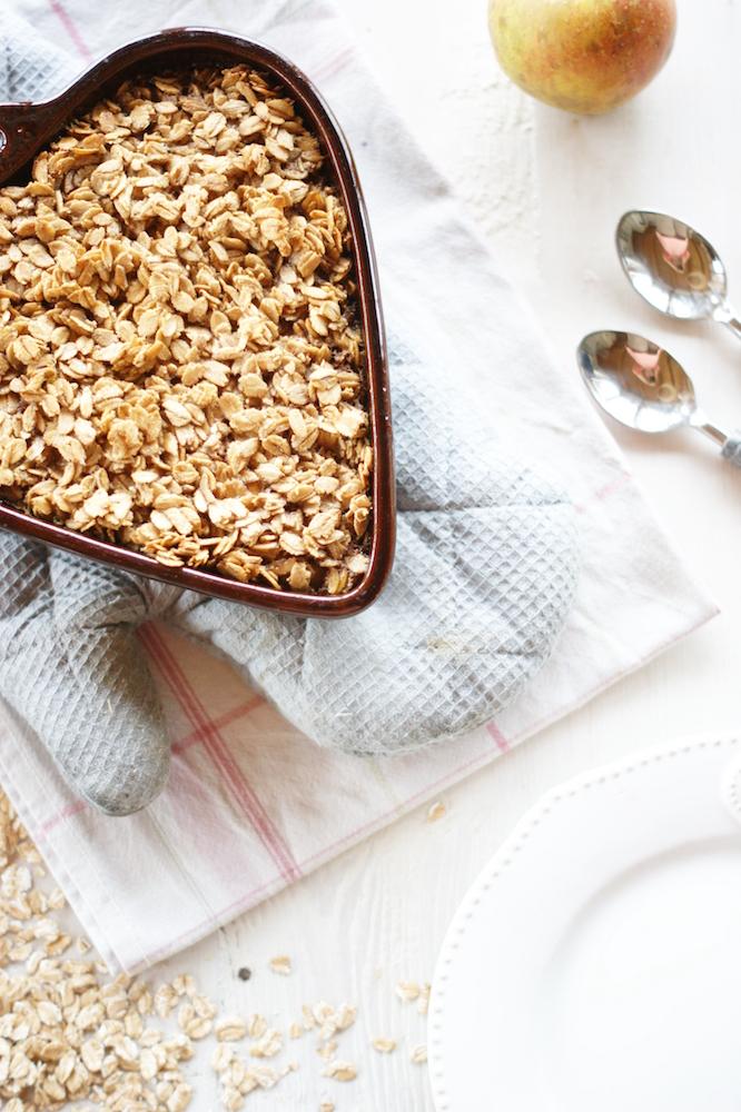Süße Frühstücksidee: Gebackener Bratapfel-Porridge