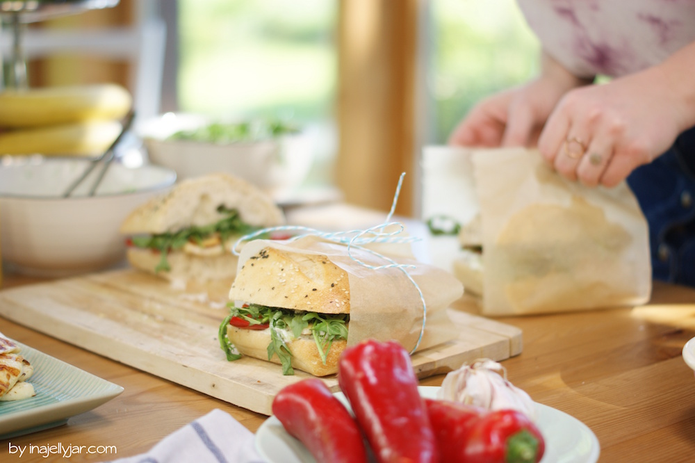 Griechisches Sandwich mit Tsatsiki