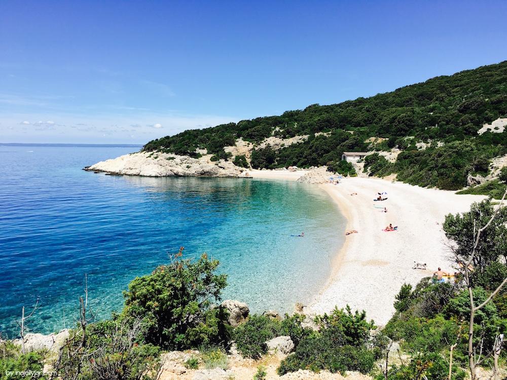 Strand von Lubenice, Cres