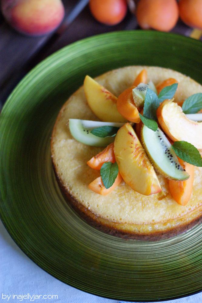 sommerliche Pfirsichmousse-Torte