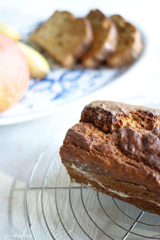 Herbst-Kuchen: Bananenbrot mit Kürbis