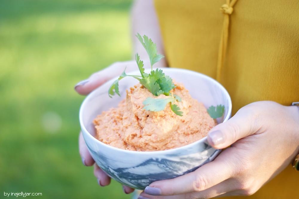 Hummus mit gerösteter Paprika-Rezept