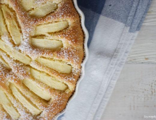 Apfel-Amaretto-Kuchen mit Marzipan