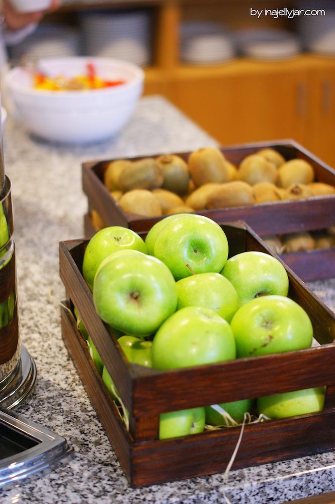 Frische Äpfel im Hotel Zeitgeist Wien