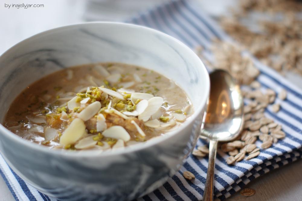Herbstliches Kürbis Porridge
