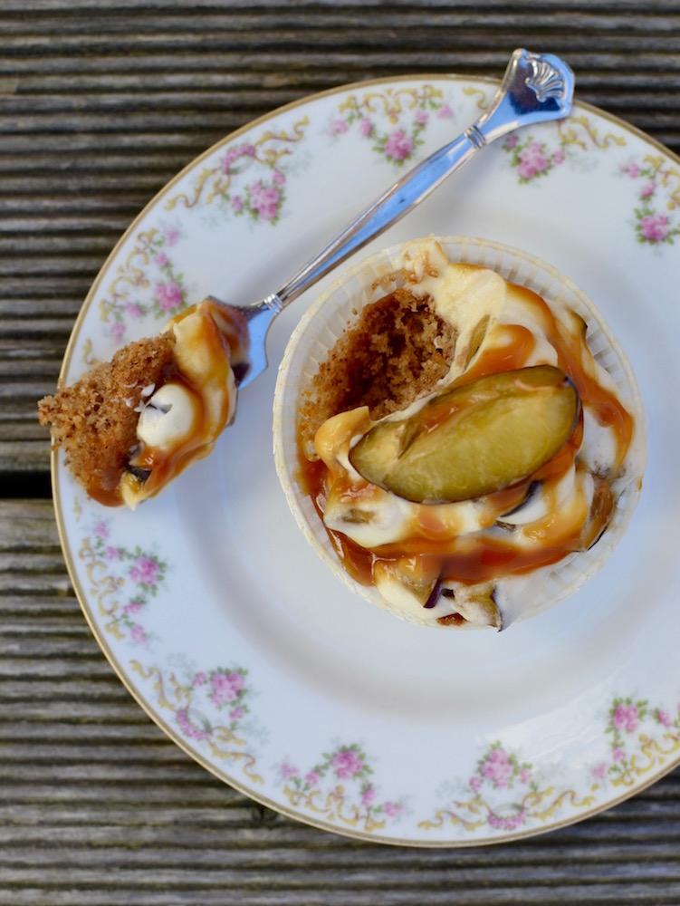 Cupcakes mit Walnüssen und Mascarpone